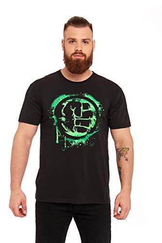 Hulk Fist Symbol T-Shirt schwarz XXL (Schwarze Symbole T-shirt)