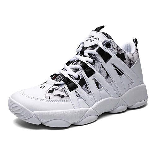 Frauen Running Footwear, Outdoor-Warme Ankle Boots Wasserproof Trainer Hiking Boots Hi-Top-Sneakers Wandern Schuhe,White,39EU -