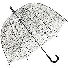 SMATI Paraguas Manual transparente forma de campana - Estrella