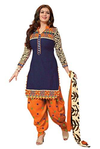 Styles Closet Women Cotton Straight Suit (Bnd-Bdblue _Blue _Free Size)