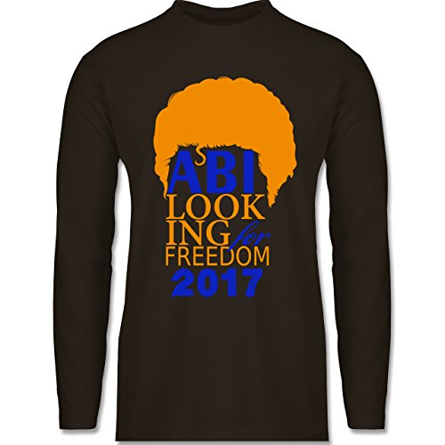 Abi & Abschluss - ABI looking for freedom 2017 - Longsleeve / langärmeliges T-Shirt für Herren Braun