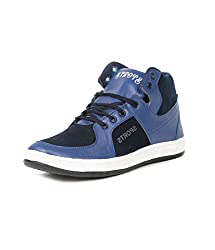 Golden Sparrow MenS Blue Fabric Synthetic Casual Shoe (Tm-D10-10)- 10 Uk