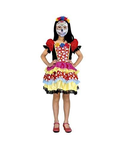 Disfraz Muerte Esqueleto Mejicana Catrina niña Infantil