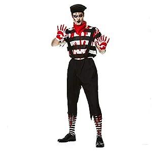 Karnival Costumes- Halloween Zombie Mime Guy Disfraz, Color blanco y negro, medium (84186)
