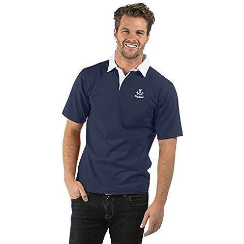Escocia Thistle Cardo de Manga Corta Camisa de Rugby - Scotland Thistle Short Sleeve Rugby Shirt - XS to 2XL