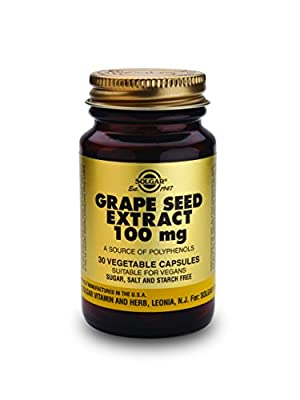Solgar 100 mg Grape Seed Extract Vegetable Capsules - Pack of 30