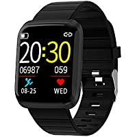 Explopur SmartWatch - IP67 Impermeabile Color Screen Touching Sports Fitness Orologio - 1,3 Pollici BT Smartwatch con frequenza cardiaca Monitoraggio della Pressione sanguigna