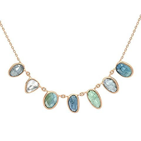 Celine d'Aoust 14 ct Rose Gold Triangle Blue Tourmaline and