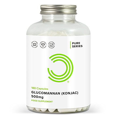 Bulk Powders Glucomannan, Konjak, 500mg, 180 Tabletten