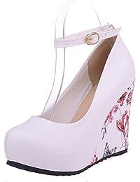 SHOWHOW Damen Strass Elegant Spitz Zehe High Heels Pumps für Hochzeit Blau 37 EU