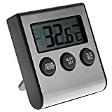 DyNamic Digital Kühlschrank Gefrierschrank Thermometer Alarm High Low Temperatur LCD Display - Schwarz