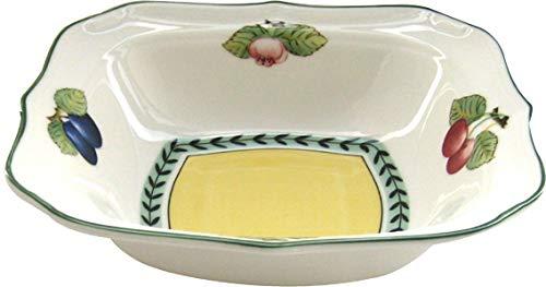 Villeroy & Boch French Garden Fleurence Plat creux carré, Porcelaine Premium, Blanc/Multicolore