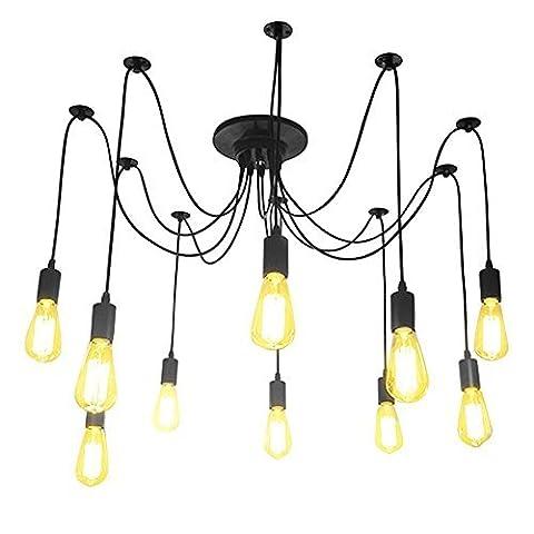 Lightess 10 Lights Loft Creative Chandelier Antique