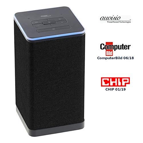 auvisio WLAN Speaker: WLAN-Multiroom-Stereo-Lautsprecher mit Amazon Alexa und Akku, 20 Watt (Lautsprecher mit Bluetooth)