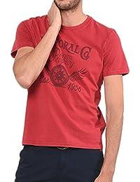 Kaporal Jeans - Kaporal Tshirt Coake Hibicus - M, Rouge