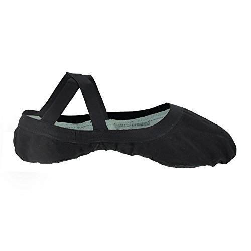 Bloch 621 Schwarz Elastic Canvas Ballet 5.5L B Fitting