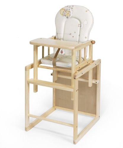 Kombi-Hochstuhl | Kiefer | XXL | umbaubar zur Stuhl-Tisch Kombination