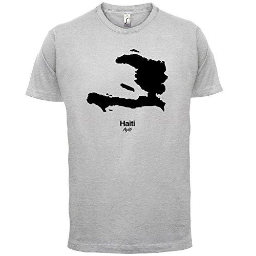 Haiti / Republik Haiti Silhouette - Herren T-Shirt - 13 Farben Hellgrau