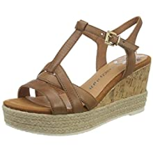 MARCO TOZZI Women's 2-2-28336-24 Ankle Strap Sandals, Brown (Nut 440), 6 UK