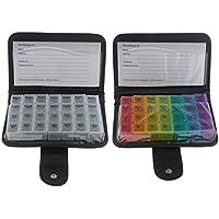 Gazechimp 2er-Set 7 Tage Tablettenbox 4 Fächer für jeden Tag Tablettendose Reisen Pillendose preisvergleich bei billige-tabletten.eu