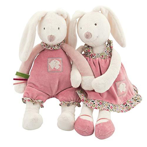Ep-toy coniglio giocattolo, pasqua creativo carino carota coniglio peluche bambola famiglia tuta, bambino che accompagna sleeping doll