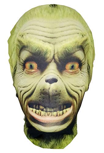 Mask Horrors der Grinch-Weihnachten-Full Head Lycra Morph Stil Maske-Halloween-Kostüm (Grinch Kostüm Maske)