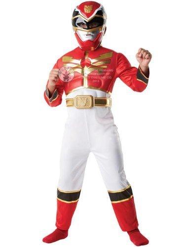 Rotes Power Rangers™ 3D-Kostüm für Jungen - 3-4 Jahre