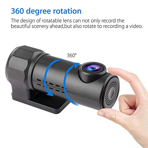 Yinroom Auto Dash Cam 1080P versteckte Auto Kamera WiFi DVR Dash Cam Recorder Camcorder Nachtsicht CAM