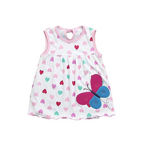 EvansampKleinkind Mädchen Kleid, niedliche Baby Einheitsgröße Baumwolle