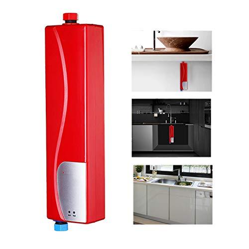GxNImer Elektro-Tankless Instantaneous Water Heater,3KW Instant Hot Water Heater Mini Hot Water Heater für Küchenbad-Senker-360 Installation-3 Seconds Hot