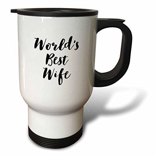 3dRose Phrase-Worlds Wife-Travel, 14Unzen, Weiß, 8.5711.83X 15,24cm