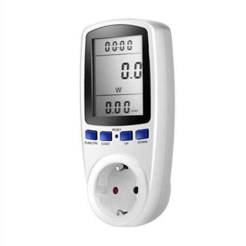 EU Plug Stromverbrauch Monitor Leistungsmesser, Dxlta Standard International Watt Spannung Monitor Steckdose Billing Outlet