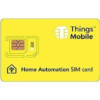 SIM Card für Smart Home/Domotica - GSM/2G/3G/4G - ideal für Alarmanlagen, Sensoren, intelligente Türöffner, Klimaanlagen, Klimaanlagen, Heizkessel, Gaszähler mit 10 €