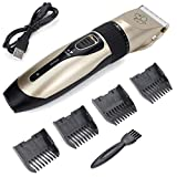 High Key Pet Dog Cat Shaver Clippers Low Noise Rechargeable Electric Hair Grooming