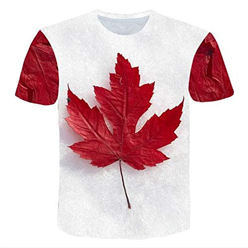 Bedruckte Herren T-Shirts für den Sommer Vintage und Urlaub Lässige Neuheit Cool Travel T-Shirt mit kurzen Ärmeln,3D gedruckte Blätter weiß XL - Musik Mag Ich T-shirt