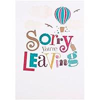 Hallmark–Tarjeta de despedida tarjeta «Sorry You're Leaving» tamaño mediano
