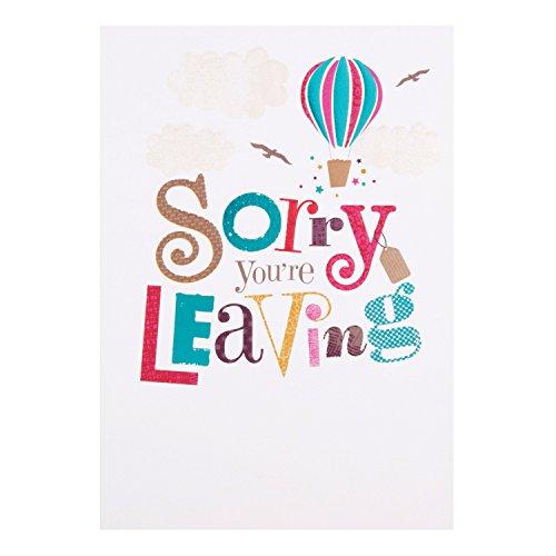 Hallmark-Tarjeta de despedida tarjeta «Sorry You're Leaving» tamaño mediano