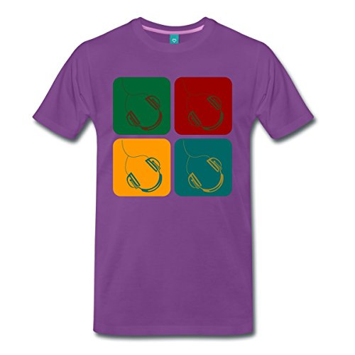 casque-diptyque-pop-art-t-shirt-premium-homme-de-spreadshirtr-5xl-violet