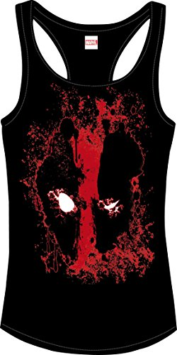 Deadpool Girlie Tank Top Bloody Eyes Size S CODI shirts