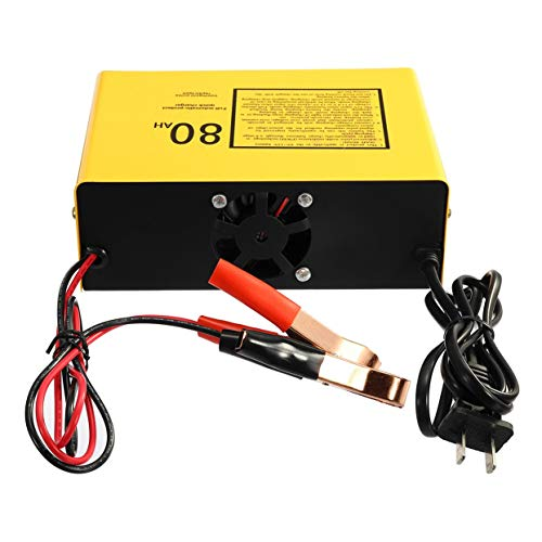 Tellaboull for Caricabatterie rapido Automatico a Protezione Completa, 6V / 12V, 80AH, 140W, caricabatteria Automatico per Auto Smart, impulso Negativo