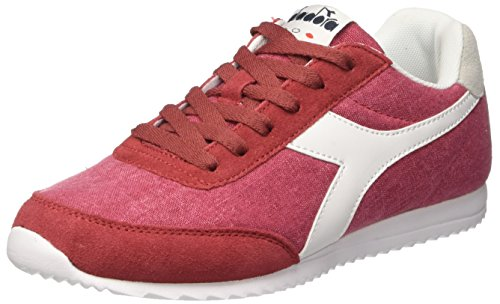Diadora Jog Light C, Sneaker Bas du Cou Mixte Adulte Rouge (Rosso Scarlatto)