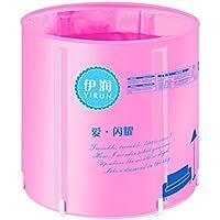 Bañera Protable Inflatable Bathtub Adult, Aislante de Nylon Plegable 5 Archivos de Altura Ajustable,