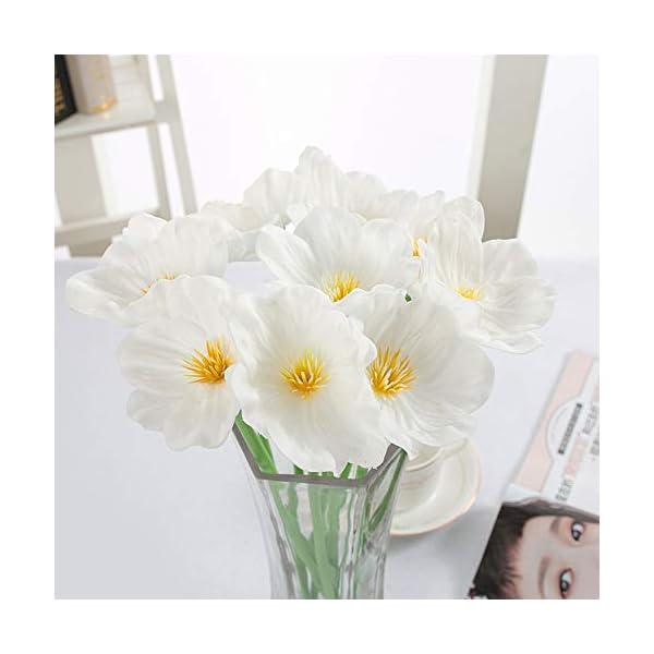 HYLZW Flor Artificial Planta 5 Unids/Lote Decoración De Boda Muebles Amapolas Artificiales Flores Boda Día De San…