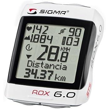 Sigma Sport, Ciclocomputer Rox 6.0 Cad, Bianco, Taglia unica