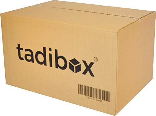 CAJAS DE CARTON RESISTENTES Y VERSATILES PARA UNA GRAN CANTIDAD DE USOS La caja de cartón TADIBOX de 440x300x250mm está fabricada en canal simple de 4mm (T100/SN140/T90) con papel LINNER DE ALTO GRAMAJE (325gr/m2). Esta configuración ...