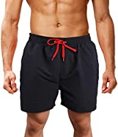 LK LEKUNI Bañador Hombre Pantalones de Playa con Forro con Cordón Traje de Baño Pantalón Ceñido