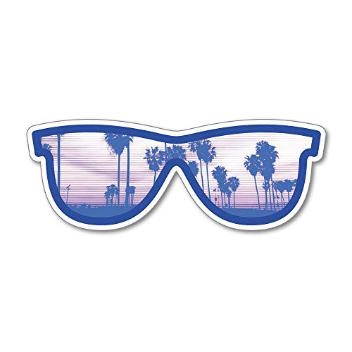 Sunglasses Sticker Decal Luggage Travel Adventure Urban Country
