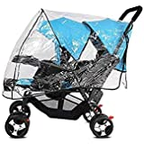 Universal Stroller Raincover Twins Strollers Double Tandem Baby Stroller Transparent PVC rain Cover for Pushchair Pram Buggy
