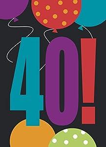 """Partido Ênico 40a""""Cumpleaños Cheer"""" Invitaciones del partido (paquete de 8)"""