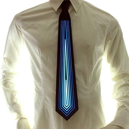 Ucult Soundaktive Leuchtkrawatte Blink-Krawatte, Leucht-Schlips, LED-Krawatte Fasching Karneval Rave Party